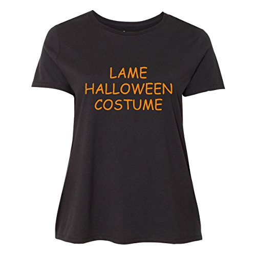 30/32 Halloween Costumes (Inktastic - Lame Halloween Costume Women's Plus Size T-Shirt 5 (30/32) Black)