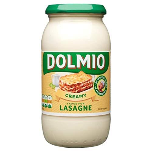 Dolmio Romige Saus voor Lasagne, 411 g, Maak een heerlijke, gouden, bruisende lasagne waar het hele gezin dol op zal…