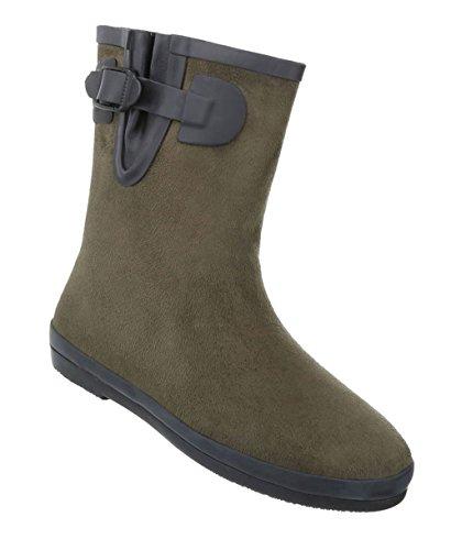 Damen Schuhe Stiefeletten | Segel Boots | Wassersport Schuhe | Gummi Boots | Wasserski | Surfboots | Kite Stiefel | Schuhcity24 Olive