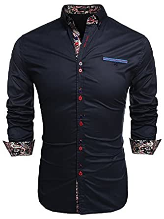 Coofandy Men's Fashion Slim Fit Dress Shirt Casual Shirt at Amazon ...