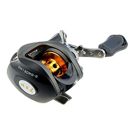 Docooler® 10BB 6.3:1 Left/Right Hand Bait Casting Fishing Reel 9Ball Bearings + One-way Clutch High Speed (Black-Right)