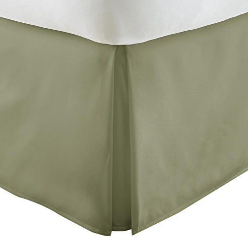 Simply Soft Pleated Bed Skirt, Twin, Sage (Twin Comforter With Bed Skirt)