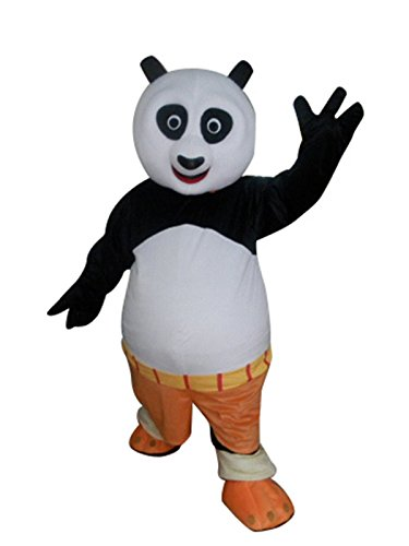 Sinoocean Kung Fu Panda Po Cartoon Mascot Costume Fancy Dress Cosplay Suit Outfit