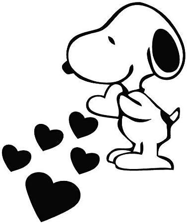 Ccg Snoopy Love Hearts Dessin Anime Amovible En Vinyle