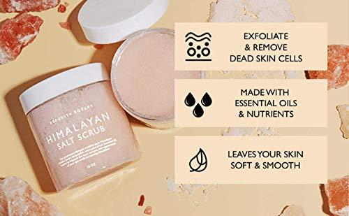Brooklyn Botany Himalayan Salt Body Scrub – Moisturizing and Exfoliating Body, Face, Hand, Foot Scrub – Fights Stretch…