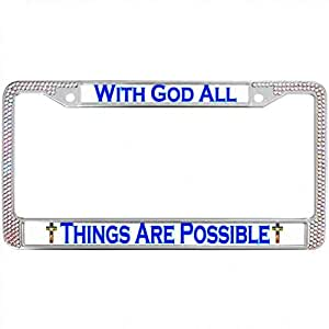 Amazon Com With God All Things Are Possible Bling License