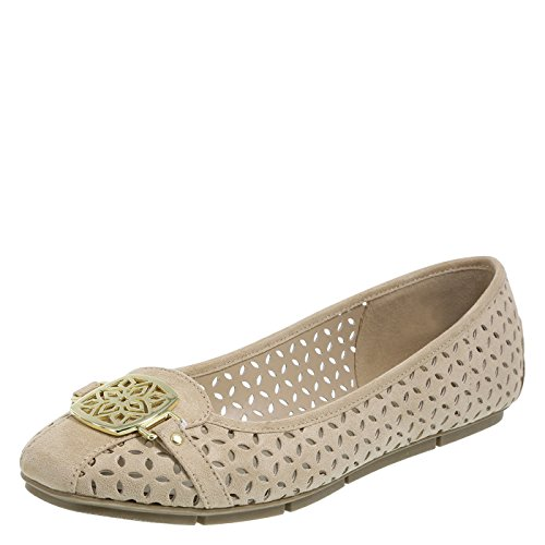 Christian Siriano For Payless Womens Tan Chopout Womens Delilah Square Toe Flat 9 Regular