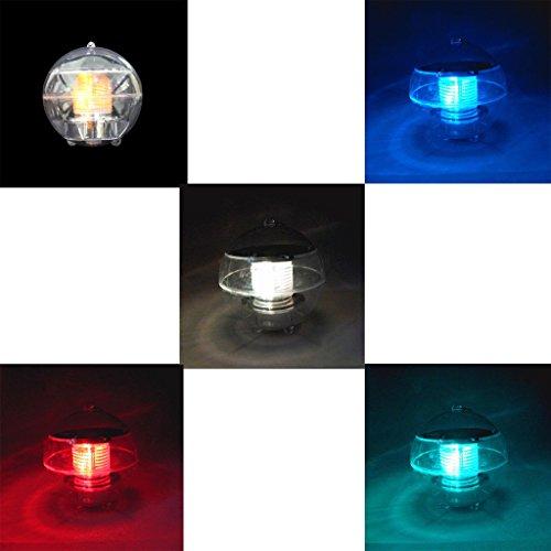 Waterproof Solar LED Floating Light Garden Yard Lawn Pond Pool Landscape Lamp - Light Color Changing by Mmrm