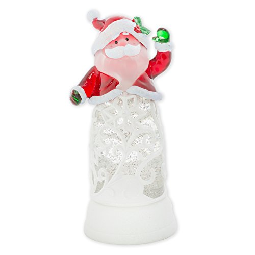Sparkling Glitter Santa Claus 12 Inch Acrylic Water Globe Tabletop Figurine