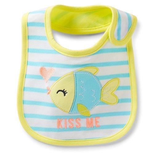 (Carter's Baby Bib Fish Stripe 'KISS ME')
