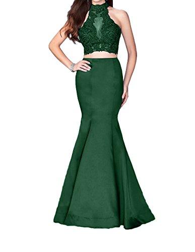 La Lang Neu Etuikleider Abendkleider Gruen 2018 Abschlussballkleider Braut Ballkleider mia Dunkel Rot Spitze Trumpet 6Eqr6Pw