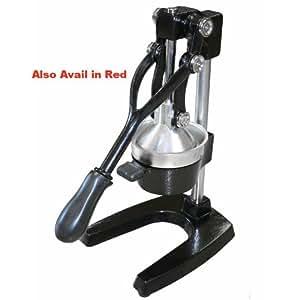 Imperial Home Large Cast Iron Manual Orange Juicer Restaurant Grade (Black)