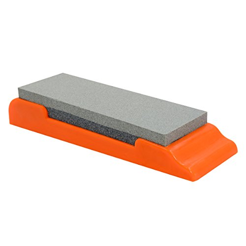 Knife Sharpening Stone 400 1000 Grit Waterstone Sharpen Chefs Knife   Kitchen Knife Plastic Base By Auko