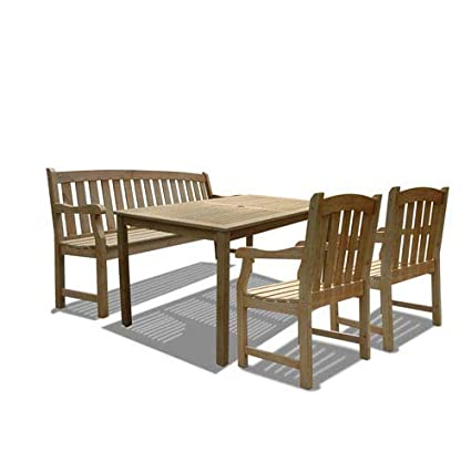 Outstanding Amazon Com Vifah V1297Set10 Renaissance Outdoor 4 Piece Ocoug Best Dining Table And Chair Ideas Images Ocougorg