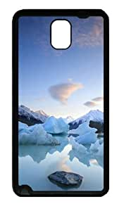Beautiful Hail And Snow-capped Mountains Custom Designer Samsung Galaxy Note 3 / Note III/ N9000 - TPU - Black