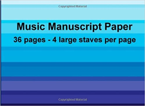 Music Manuscript Paper Large Staff Music Manuscript Paper Blenham