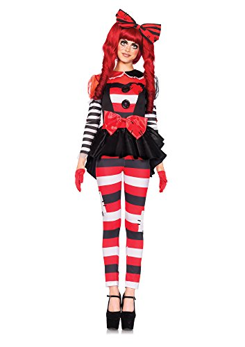 Leg Avenue Women's 3 Piece Rag Doll Costume, Multi, Medium (Halloween Rag Doll Costume)