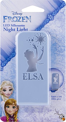 Hall Silhouette - Disney Frozen Elsa Silhouette Night Light, Always On, Long-Life LED, Ideal for Bedroom, Nursery, Bathroom, Hallway, Stairs, 32512