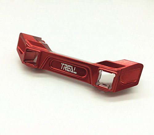 Treal Aluminium Front Bumper Mount 1pc Set for 1:10 Traxxas TRX-4 Red