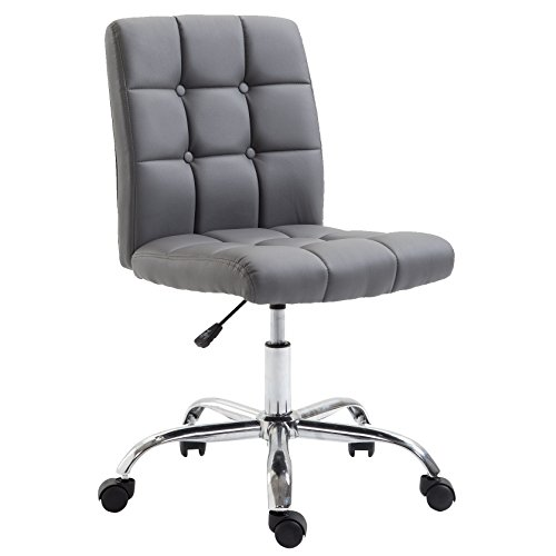 Poly and Bark Aria Task Chair in Vegan Leather, Grey (Aria Chair)