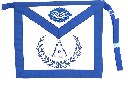 D3300 Apron Masonic Past Master Lambskin No Square with Wreath by DEAN & ASSOCIATES