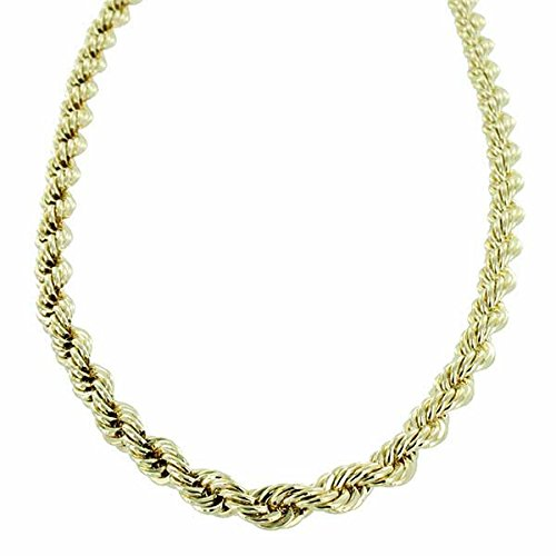 Collier Chaîne Corde Coupe Diamant Or [6mm]-61cm