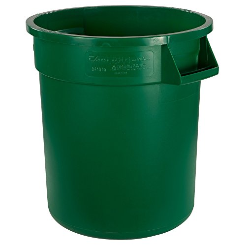 Carlisle 34101009 Bronco Round Waste Container Only, 10 Gallon, Green