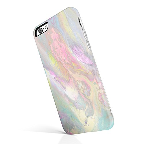 iPhone 6/6s case Marble, Akna Collection High Impact Flexible Silicon Case for Both iPhone 6 & iPhone 6s [Colorful Psychedelic] (814-U.S)