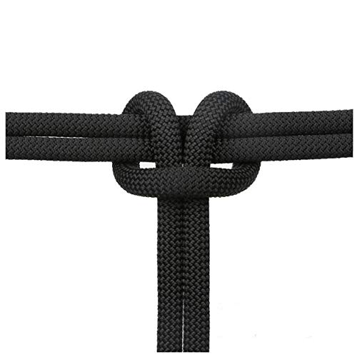 JOKABUN 11-14mm Outdoor Climbing Rope Static Rope Climbing Rope Rappelling Rope Aerial Work Climbing Rope Safety Rope (33ft-164ft) (Black, 14mm 164ft) ()