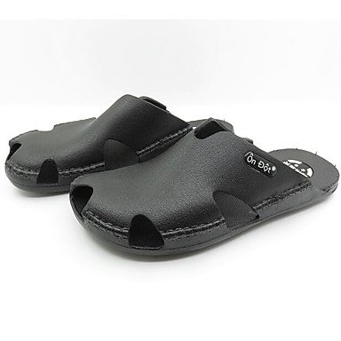 Los hombres sandalias zapatos agujero confort par zapatos casual de resorte de goma azul marino café negro Planas,Azul marino Black