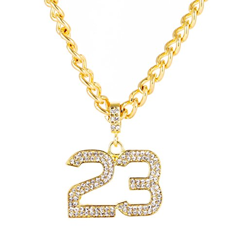 number pendant gold - 4