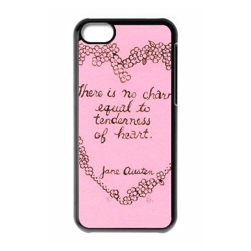 Austen Happy coque iPhone 5C Housse téléphone Noir de couverture de cas coque EBDOBCKCO13031