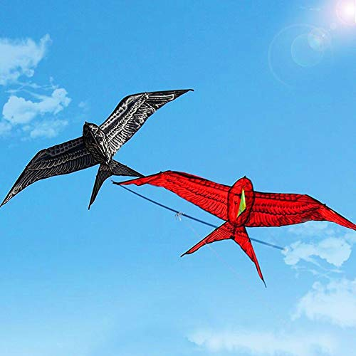 AMLJM Carrying Pole Double Swallow Kite Outdoor Toys Flying Nylon Bird Kites for Adults Dragon Fly Weather Vane