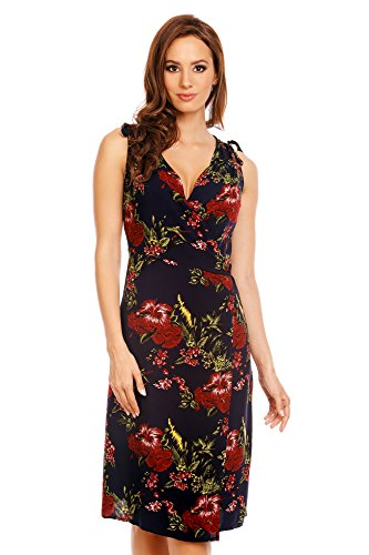 Mia Suri - Vestido - para mujer Navy Blue/Burgundy Floral Print