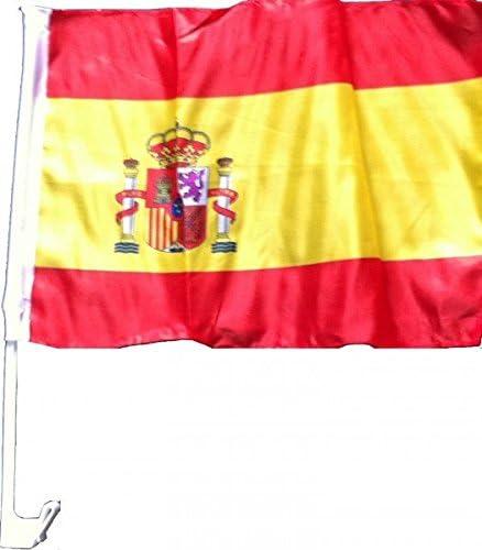 NFP 10 x Auto Bandera Auto 45 x 30 España Bandera Banderas Banderas Em 2016 con Soporte: Amazon.es: Deportes y aire libre