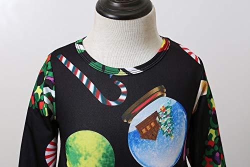 Hiver Christmas Modèles Fille Enfants Dark Longues Robe De Tailleur Cadeau Vêtements Anniversaire Costume Accessoires Noël Fond Bleu Manches Famille Deguisement Angelof PUOBn