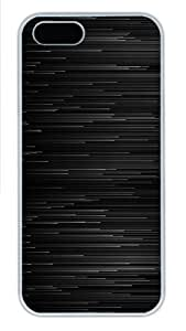 Abstract Black Graphite Lines Polycarbonate Plastic iPhone 5S and iPhone 5 Case Cover White