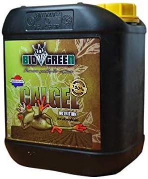 Fertilizante CALGEL Especial para Cultivos de Cannabis y Marihuana. Mejora su Crecimiento y Floración. No Sulfurada. Producto CE. 5 Litros