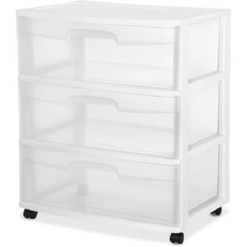 Sterilite 29308001 Drawer Drawers Casters