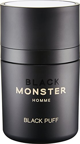 Hair Loss Thinning Bald Spot Cover Up Building Concealer Hair Puff Fiber [BLACK MONSTER] BLAKC PUFF Root Powder puff for Hair Volume, Fiber Thickener with oil adjustment, Natural Black, Natural Brown