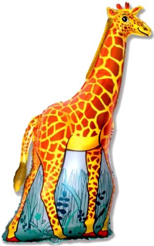 47'' GIRAFFE BALLOON - Amazing New HOVERING ANTI-GRAVITY TOY - Free Floating, Flying Jungle Zoo Animal Kingdom Birthday Party Favor by SPACE PET