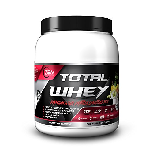 Whey Protein Total Whey [2Lbs] is an advanced formulation for Lean Muscle Build, Muscle Definition and Weight Management. It is a Premium Protein Matrix. (Banana)