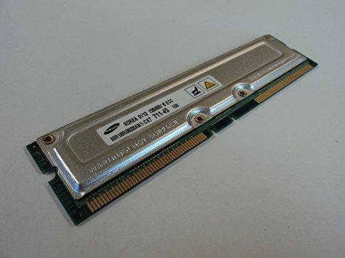 Samsung RAM Memory Module 128MB PC700 RDRAM RIMM 184-Pin RAMBUS MR18R0828AN1-CK7