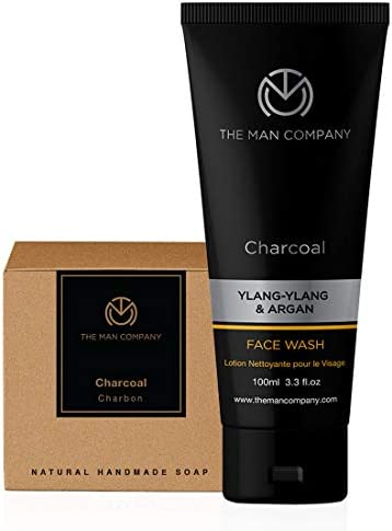 The Man Company Charcoal Refresher (Charcoal Face Wash and charcoal Soap Bar) Set of 2 | Made in India