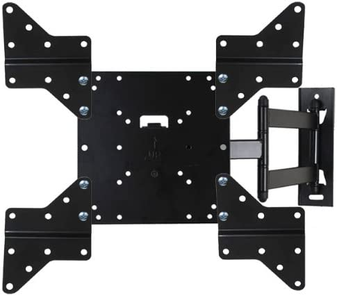 VideoSecu Full Motion TV Wall Mount Bracket with Swing Out Articulating Arm for 23 – 47 LCD LED Plasma TV Fit VESA 400X400 400×200 300X300 200X200 200X100 with Removable Mount Adaptor ML531BEKit WO2