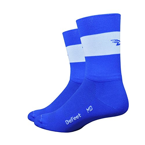 (DeFeet Aireator Team Double Cuff Socks, Royal Blue, X-Large)