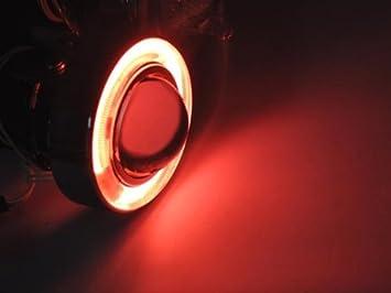 "7/"" Round Halogen H4 CCFL Halo Glass Headlight Conversion w// Bulbs Pair RH LH"