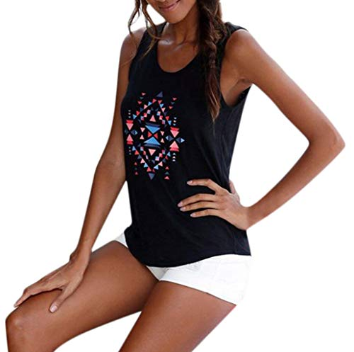 Graphic Tank Tops for Women,SMALLE◕‿◕ Women Summer Pixel Style Tank Tops Sleeveless Graphic Tee Unique Sleeveless Shirts Black]()