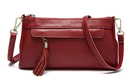 Señora Embrague Informal Bolso De Hombro Multifuncional Bolsa De Mensajero Moda Bolso De Mano Rojo