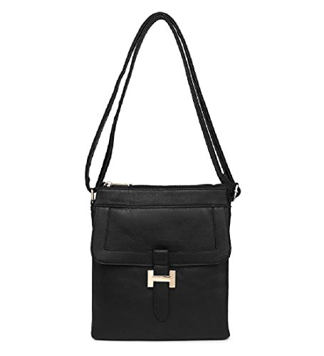 Messenger MA34955 Ladies Handbag Front Small Cross Bag Black Women's Travel Body P6fYwq6